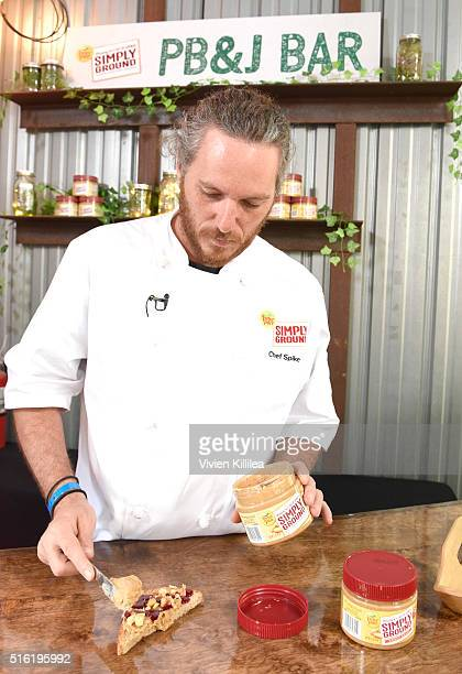 Restaurateur and Top Chef Spike Mendelsohn demonstrates Peter Pan Simply Ground Peanut Butter recipes at Peter Pan Simply Ground Peanut Butter...
