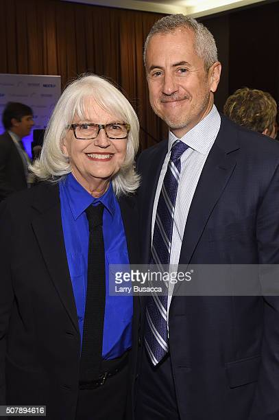 Restaurateur Daniel Meyer poses with Editorial Director of Hearst Magazines Ellen Levine at the American Magazine Media Conference at Grand Hyatt New...