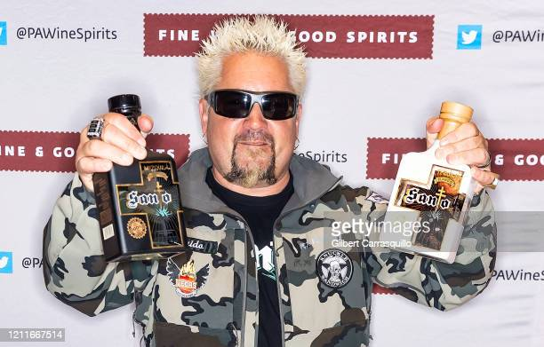 Restaurateur Guy Fieri attends a bottle signing of Santo Fino Tequila Blanco at Fine Wine & Good Spirits Premium Collection store on March 10, 2020...