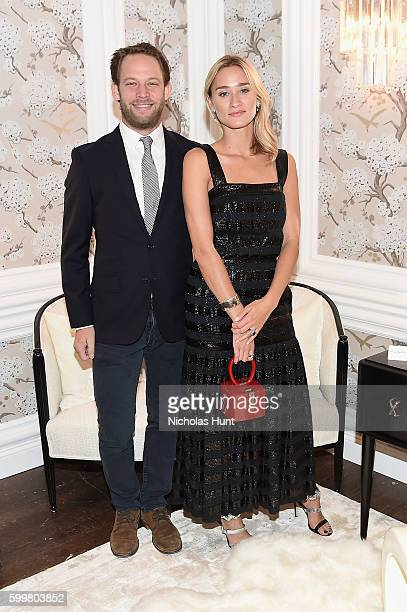 Restaurateur Jon Neidich and Alessandra Brawn attend the CHANEL Fine Jewelry Dinner in honor of Keira Knightley at The Jewel Box Bergdorf Goodman on...