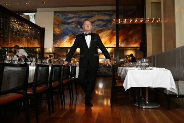 AUS: Luke Mangan Hosts Black Tie Dinner At Glass Brasserie To Celebrate Reopening After COVID-19 Lockdown
