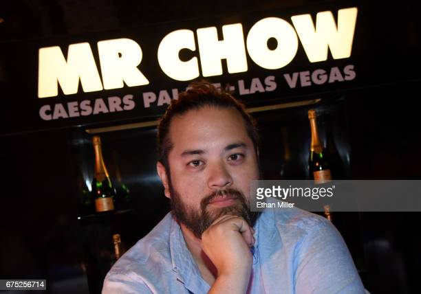 Restaurateur Maximillian Chow poses at the MR CHOW booth at the 11th annual Vegas Uncork'd by Bon Appetit Grand Tasting event presented by the Las...
