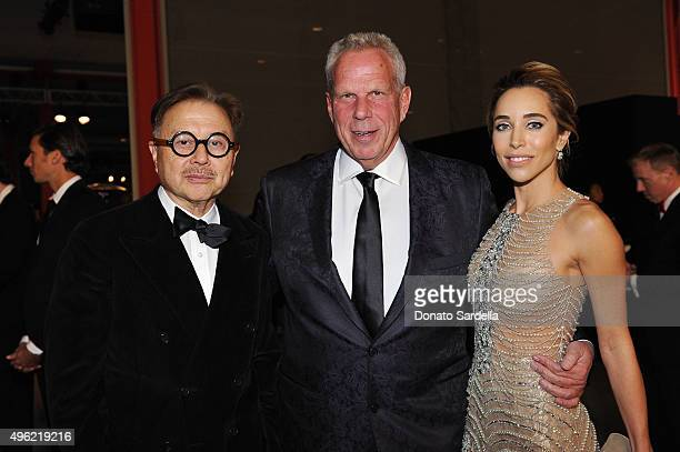 Restaurateur Michael Chow Chairman and Executive Vice President of the New York Giants Steve Tisch and Katia Francesconi attend LACMA 2015 ArtFilm...