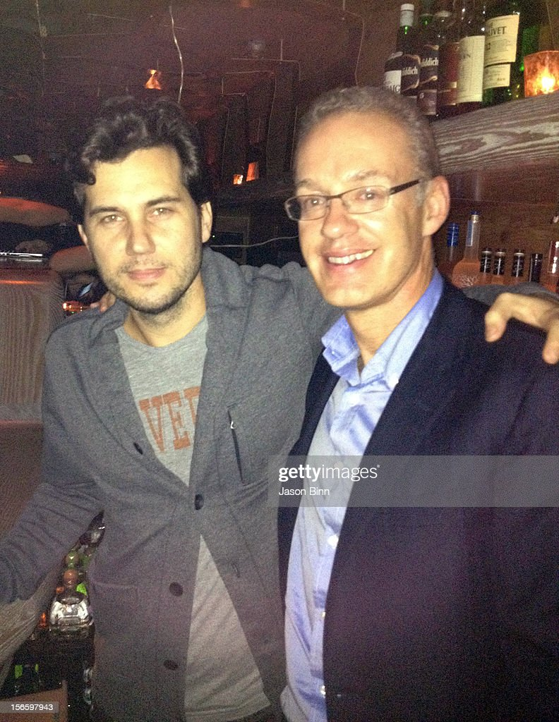 Restaurateur Scott Sartiano and Founder and CEO of Gilt Groupe Kevin Ryan pose circa October 2012 in New York City.