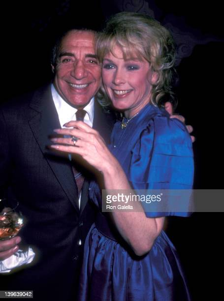 Restaurateur Tony Roma and actress Stella Stevens attend the Flamingo Road Final WrapUp Party on April 18 1982 at The China Club in West Hollywood...