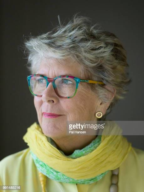 Restaurateur tv presenter and cookery writer Prue Leith is photographed for Waitrose magazine on January 24 2018 in London England