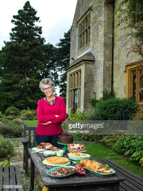 Restaurateur tv presenter and cookery writer Prue Leith is photographed for the Daily Mail on July 30 2018 in the Cotswolds England