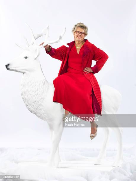 Restaurateur tv presenter and cookery writer Prue Leith is photographed for the Daily Mail on November 15 2017 in the Cotswolds England