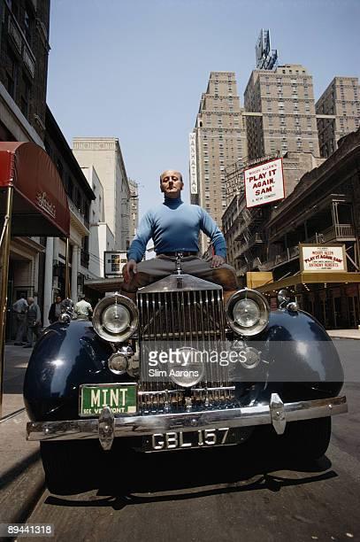 Restaurateur Vincent Sardi, Jr. Sitting on a Rolls-Royce Phantom III outside Sardi's at 234 West 44th Street in Manhattan, June 1969. His parents...