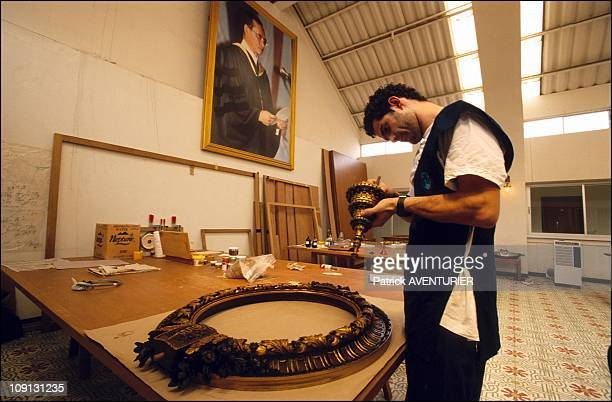 Restaurateurs Sans Frontieres : Restoring Beauty On January 1St, 2002 In Bangkok, Thailand. Restoration Workshop At The Fine Art Institute At The...