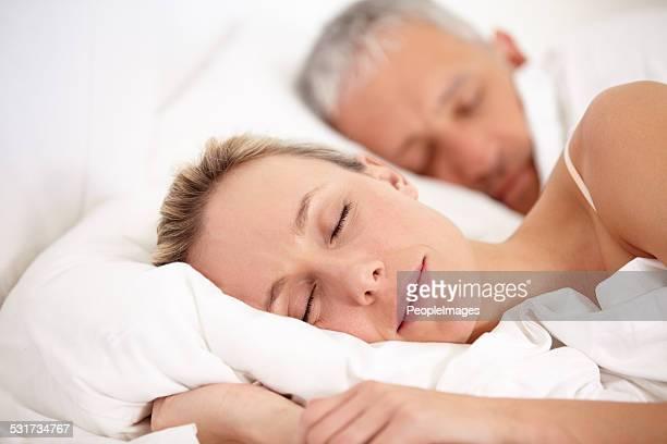 Eine erholsame Nacht mit einem Sie liebt