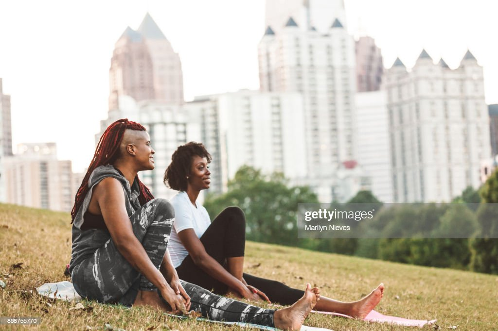 resting after a workout in the park : Stock Photo