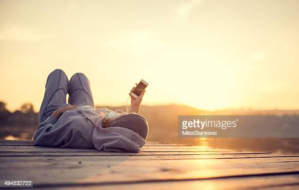 Resting and enjoy the sunset