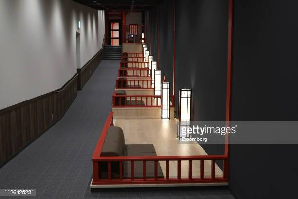 Resting area is seen inside the Solaniwa Onsen spa at Osaka Bay Tower during a media tour in Osaka, Japan, on Thursday, Feb. 21, 2019. Fortress...