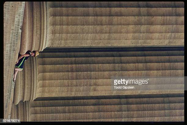 resting beneath columns - gipstein stock pictures, royalty-free photos & images