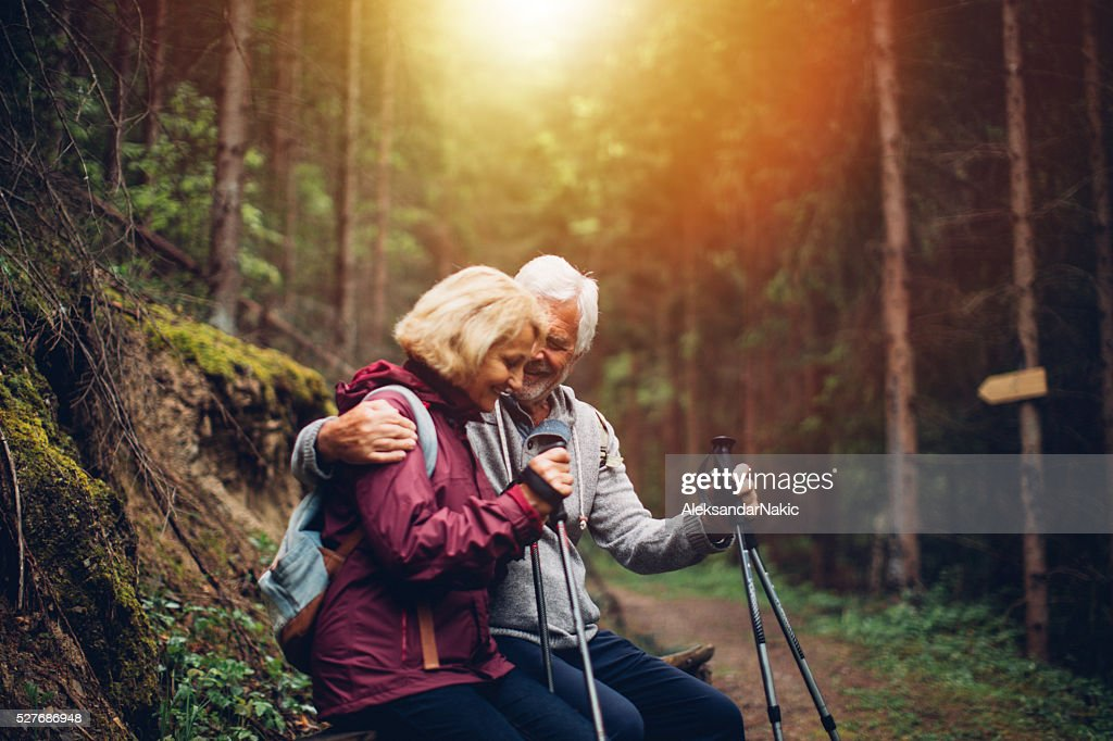 Resting during the hike : Stock Photo