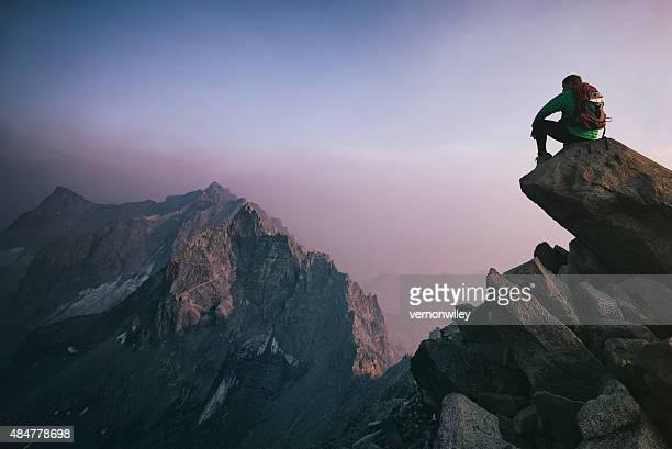 Ruhen auf dem Gipfel
