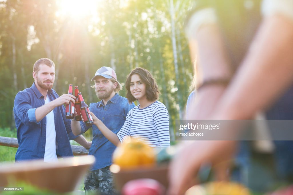 Resting together outdoors : Stock Photo