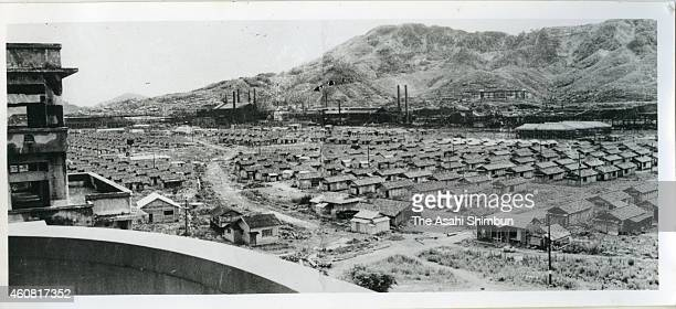 Restoration continues around the Nagasaki Medical University circa 1948 three years after the atomic bomb dropped in Nagasaki Japan The world's first...