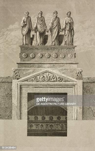 Restoration of the Tomb of Josaphat, Jerusalem, Israel, engraving by Lemaitre and Cassas from Palestine, Description Geographique, Historique et...