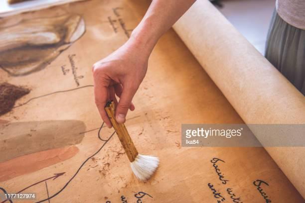 復元古い本 - 古代の遺物 ストックフォトと画像