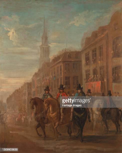 Restoration Procession of Charles II at Cheapside, ca. 1745. Artist William Hogarth. .