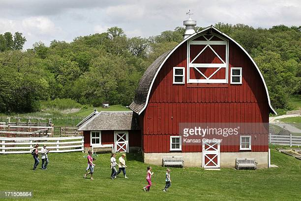 Restoration work done by Amish workers has restored the glory to one of the barns standing tall on the Heritage Farms in Decorah Iowa