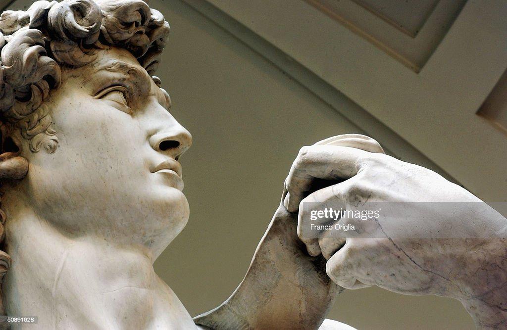 Restoration Work Completed On Michelangelo's David : News Photo