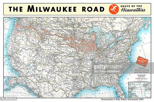 Railway Maps Stock Photos And Pictures Getty Images - Map of us railways