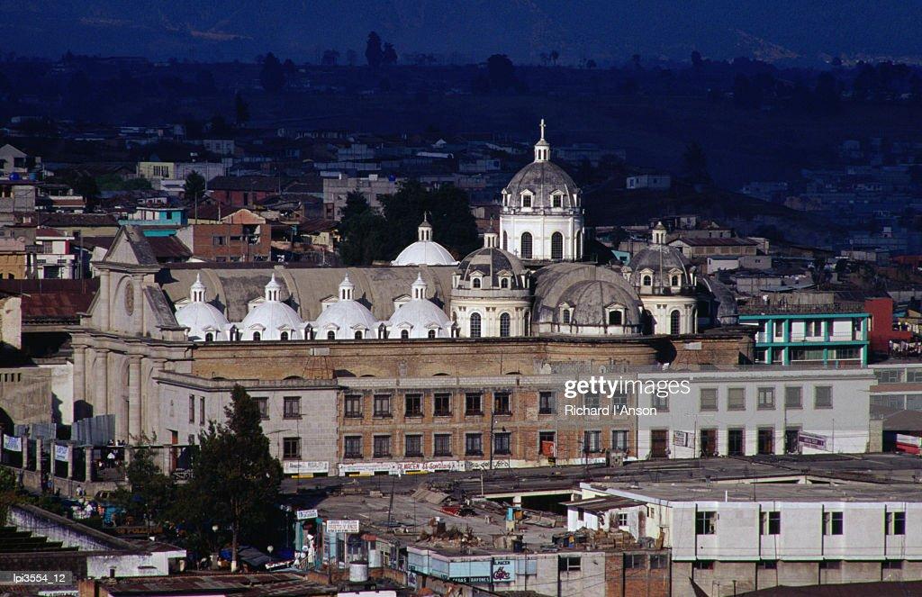 Restored Colonial cathedral, Quetzaltenango, Guatemala, Central America & the Caribbean : Stock Photo