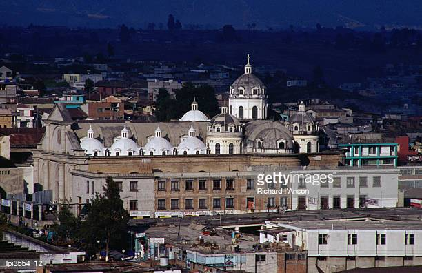 Restored Colonial cathedral, Quetzaltenango, Guatemala, Central America & the Caribbean