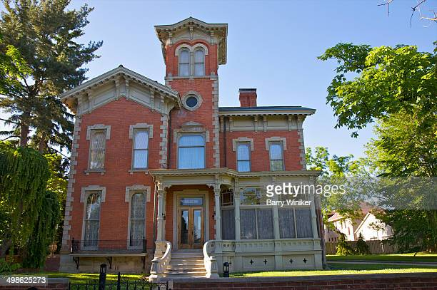 restored residence in historic district - kalamazoo stock pictures, royalty-free photos & images