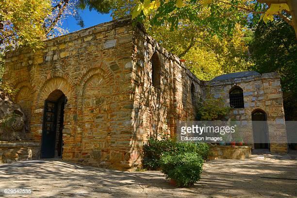 Restored stone house of the Virgin Mary on Nightingale mountain near Ephesus Turkey