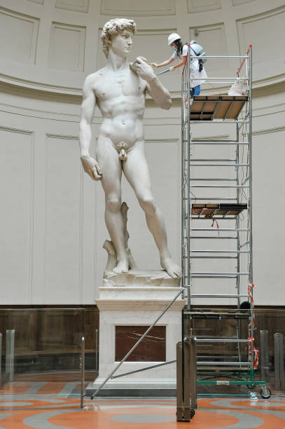 ITA: Cleaning Of The David Di Michelangelo At The Galleria Dell'Accademia