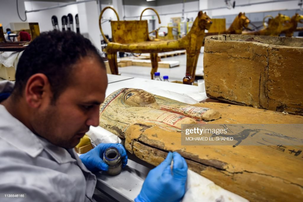 EGYPT-CULTURE-HERITAGE-HISTORY-MUSEUM : News Photo
