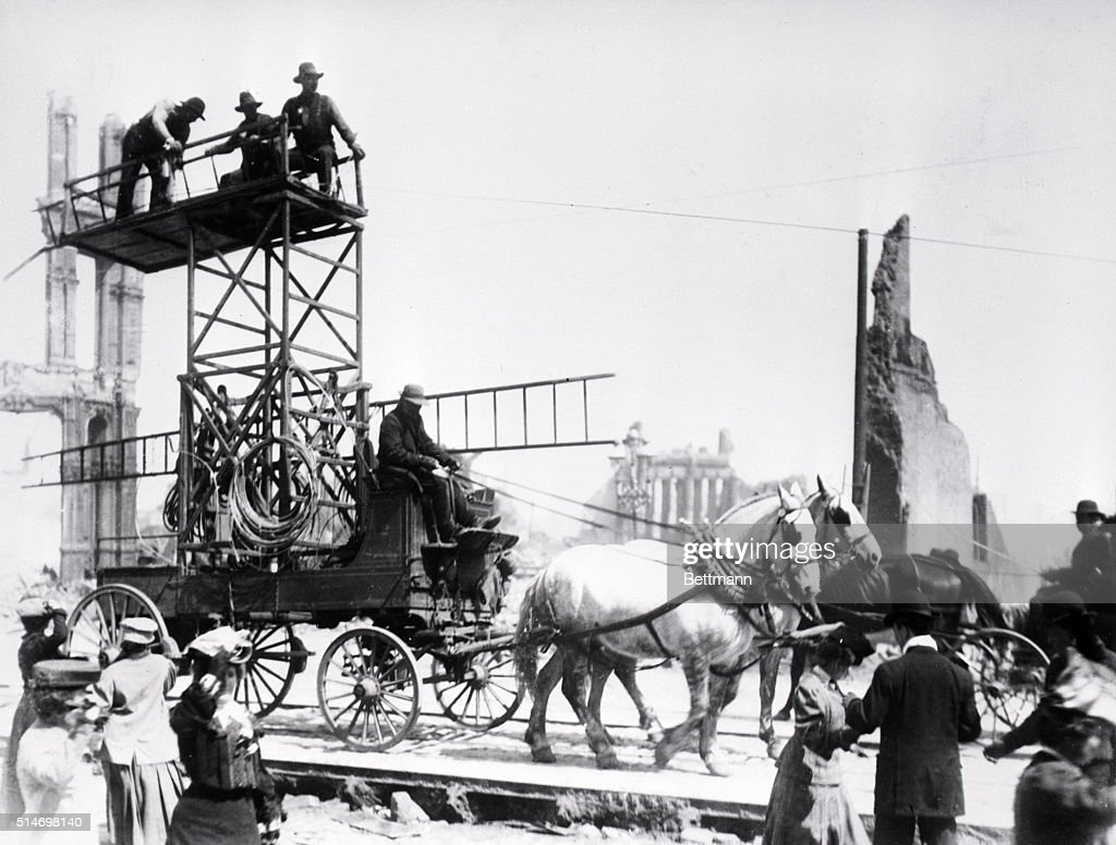 Restoring Telegraph Service After 1906 Fire Pictures   Getty Images