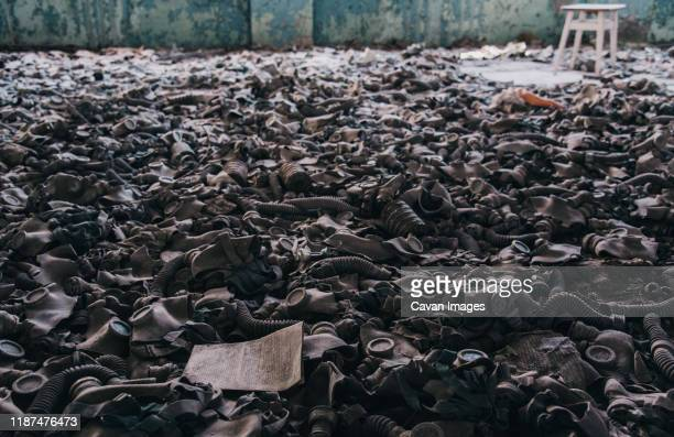 restricted chernobyl exclusion zone in ukraine. - chernobyl nuclear power plant stock pictures, royalty-free photos & images
