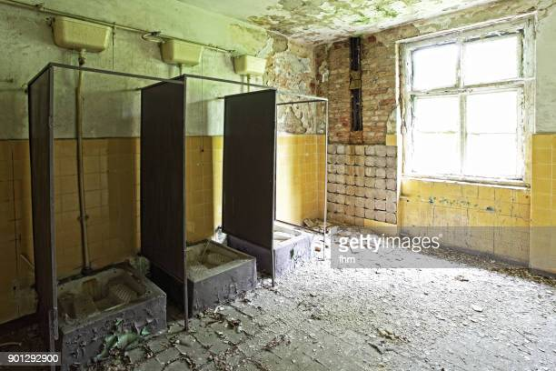 Restroom in abandoned barracks