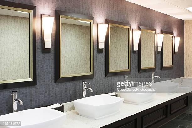 Public restroom stock photos and pictures getty images for What do hotels use to clean bathrooms