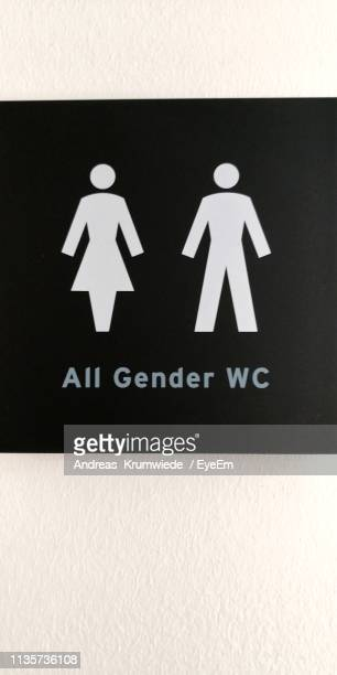 Restroom Sign On Wall