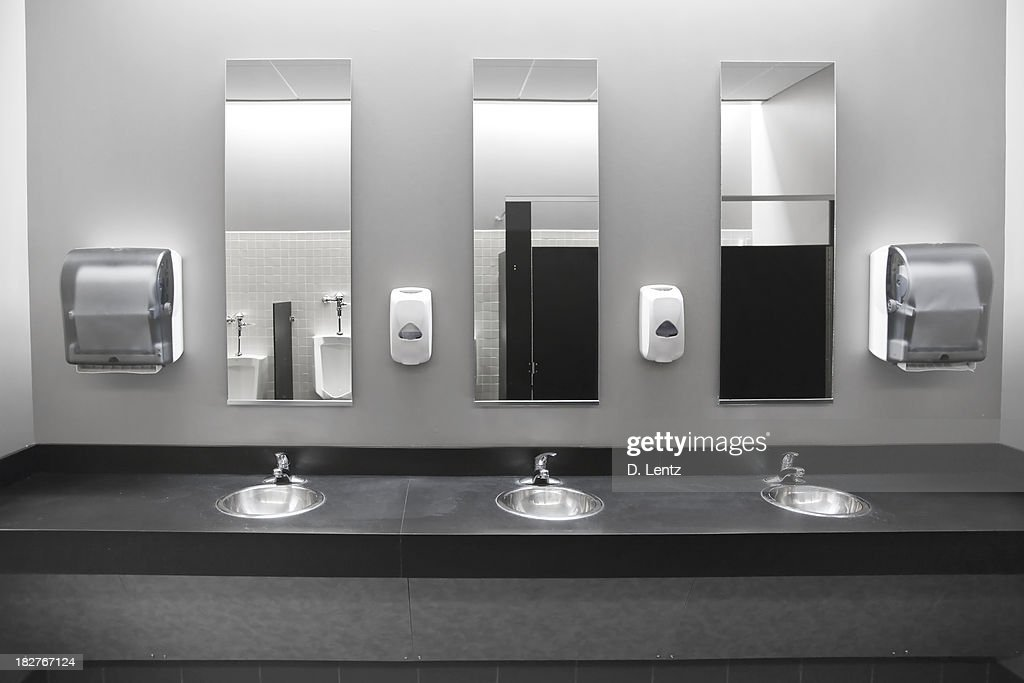 Restroom Sinks : Stock Photo