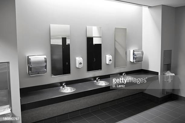 restroom sinks - public restroom stock pictures, royalty-free photos & images