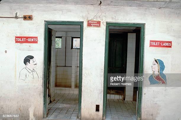 Restrooms at Shiv Niwa's Palace
