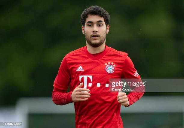 Resul Tuerkkalesi of Munich reacts during the friendly match between SpVgg Lindau and FC Bayern Muenchen on May 29, 2019 in Lindau, Germany.