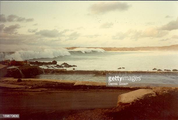 Result of suspected earthquake close to Equater. Ascension Island Mar 1985. Taken near Turtle Ponds Water did not settle down for about a week. The...