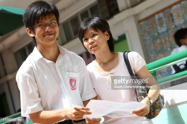 HKCEE results Chan Yinfung 16yrs 8As and two 5* at Shun Tak Fraternal Association Leung Kau Kui College Tuen Mun 08 August 2007