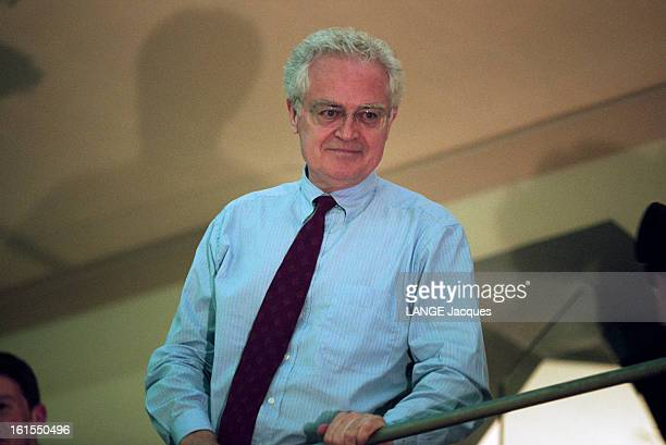 Results For The First Round Of The 1995 Presidential Elections In France April 23rd Lionel Jospin At His Headquarters Of The Cherche Midi Street In...