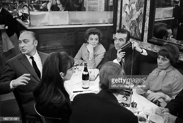 Results Of General Elections March 1967 Gerard Oury et Michel Droit à La Brasserie Lipp Le Drugstore StGermain