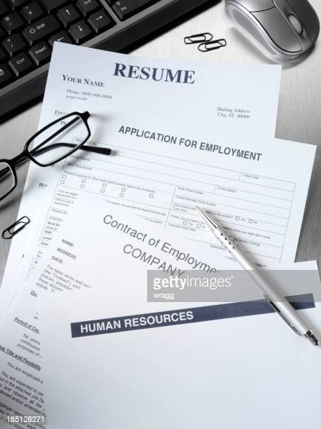CV et du formulaire de candidature à un emploi