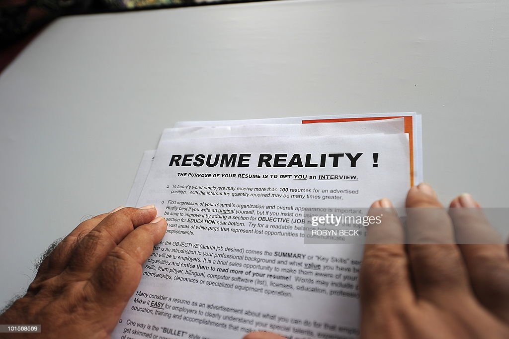 A resume counselor holds a tip sheet used to help job seekers iimprove their resume or curriculum vitae, at the second annual Anaheim/Orange County Job Fair in Anaheim, California June 2, 2010. Friday, the Labor Department will release May employment data, and forecasters expect more than 500,000 new jobs; however, many are in the public sector reflecting stimulus spending. Manufacturing is expected to add approximately 30,000 new positions, but the unemployment rate is expected to ease only slightly, according to economist Peter Morici.